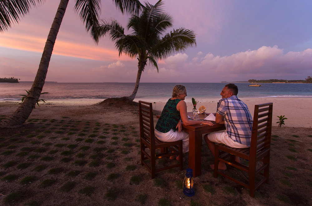 Dinner for two, with a spectacular view.