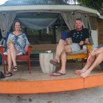 The Keightley Family enjoyed watching the amazing sunsets in Samoa from their own front row seats